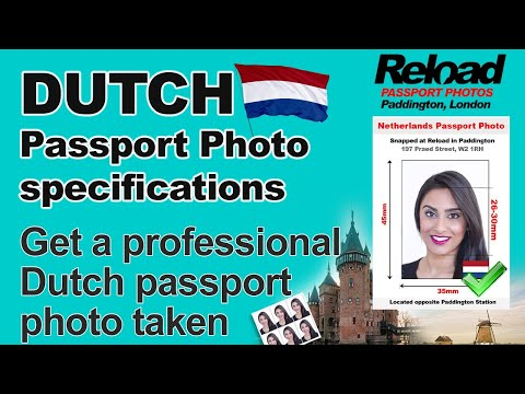 Get your Dutch Passport Photo or Netherlands Passport photo in London, Paddington at Reload Internet