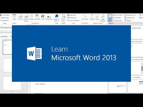 Microsoft office 2013 -Word 2013 training seventh video