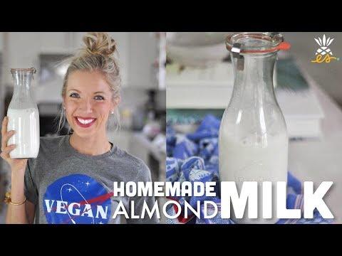 Easy Homemade Vanilla Almond Milk Recipe | Raw Vegan, Plant-based