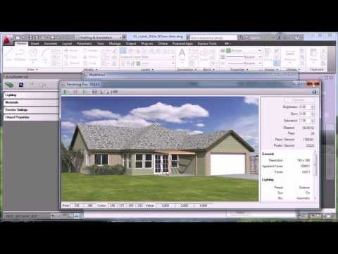 Rendering with AutoCAD