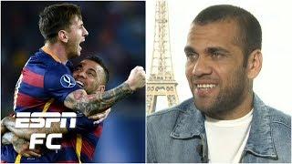 Dani Alves talks Barcelona triumphs with Messi & Pep Guardiola's intensity   ESPN FC