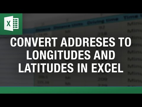 Convert Address to Lat Long Excel