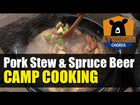 Pork Stew Recipe Cooked Outdoors In A Lodge Cast Iron Dutch Oven