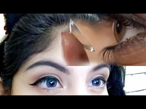 Putting in Color Contacts for the First Time   HOW TO!