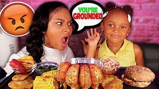LAYLA IS GROUNDED AFTER THIS!? + MEGA PRAWNS SEAFOOD BOIL MUKBANG 먹방 | QUEEN BEAST