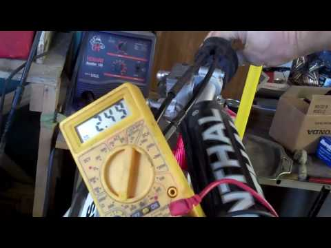 How to test a Throttle Position Sensor on a dirtbike or car.