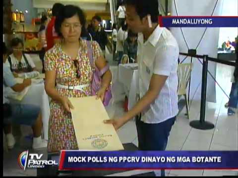 Voters flock to PPCRV mock automated poll