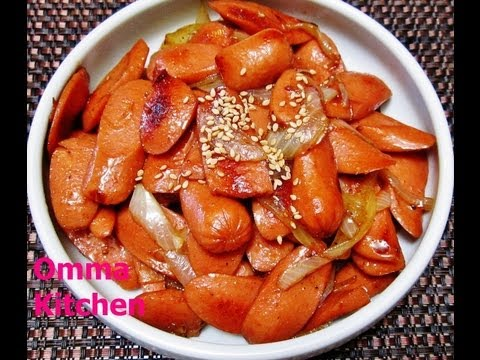 Korean Stir Fry Hot Dog in Soysauce or Teriyaki Hot Dog (Korean Side Dish) by Omma's Kitchen