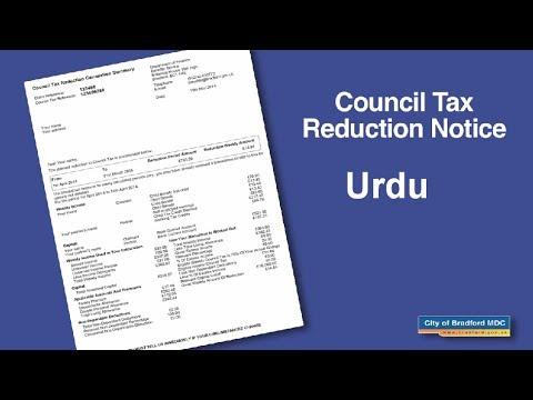 Council Tax Reduction Notice (Urdu)