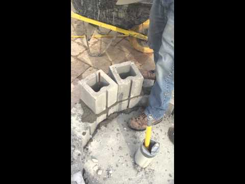 Masonry Concrete Block Install (Circle Pattern)