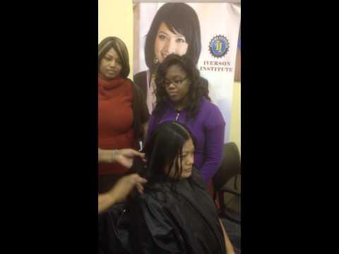 Iverson Institute - 45 degree hair cut