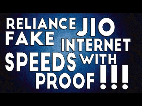 Reliance Jio Fake Internet speeds With Proof !!!