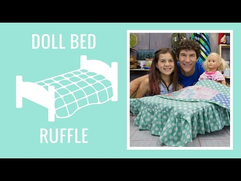 Basic Doll Bed Ruffle with Ruby Appell