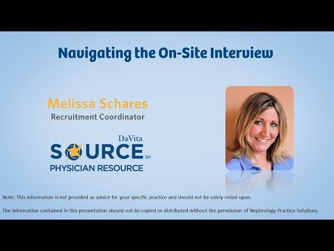 Navigating the On Site Interview - Nephrology Jobs