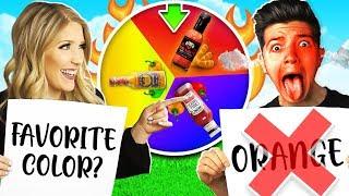 Spicy Rainbow Mystery Spin Wheel Newly Wed Challenge with PrestonPlayz