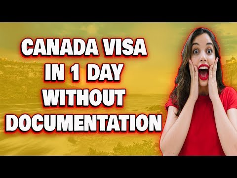 Canada Visa In 1 Day Without Documents