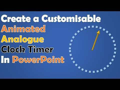 Create An Animated Analogue Clock Timer In PowerPoint