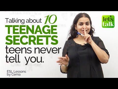 10 Teenage Secrets Teens Never Tell You - English Conversation Lesson - Listening Practice