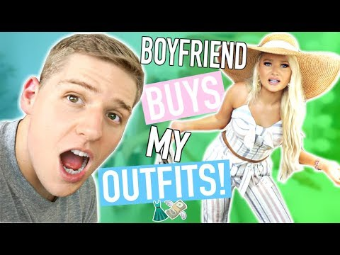 BOYFRIEND BUYS MY OUTFITS! Shopping Challenge 2018!