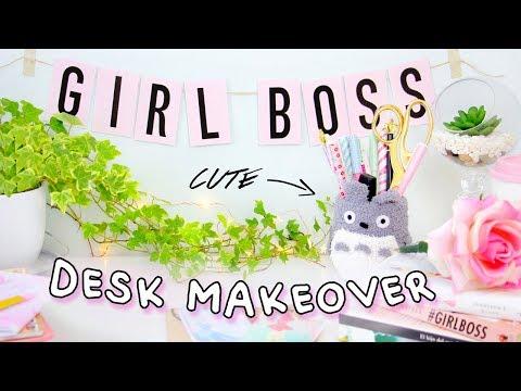 DIY Desk Decor & Organization for Back to School 2017 | Desk Makeover! Kawaii & Tumblr!