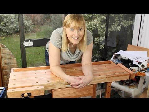 VidaXL carpentry workbench unboxing and setup