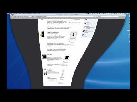 The Downloads folder in Mac OS X