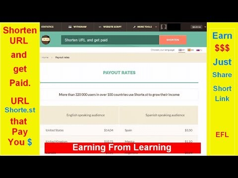 How to earn money from link share bangla tutorial | Shorte.st earning | Earning from Learning