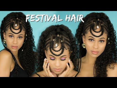 Festival-Inspired Hair Style Tutorial   Full Lace Wig