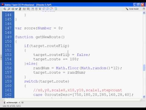 Flash Shooter Game 12 - Actionscript 2.0