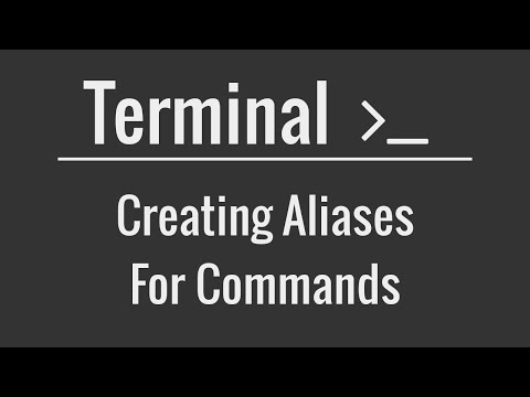 Linux/Mac Terminal Tutorial: Creating Aliases for Commands
