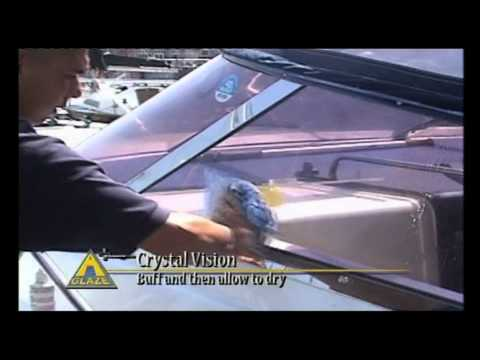 Boat  and Yacht Cleaning Product -- A Glaze Crystal Vision V.2 & A Glaze PVC Cleaner