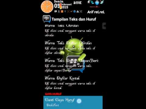 Change Font Style In BBM