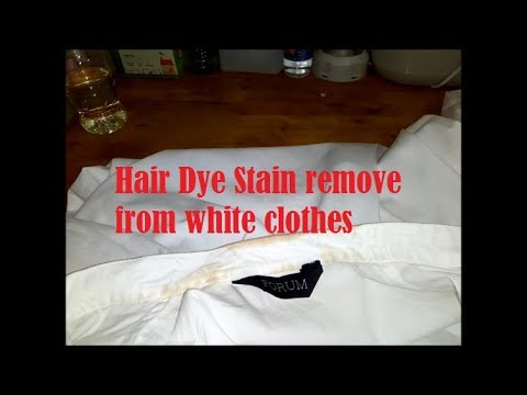 Hair Dye Stain remove from white clothes