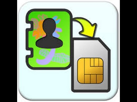 How to copy contacts from phone memory to sim card