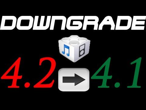 How To Downgrade 4.2/4.2.1 To 4.1 Firmware On iPhone 4/3Gs/3G iPod Touch 4th/3rd/2nd Gen With iTunes