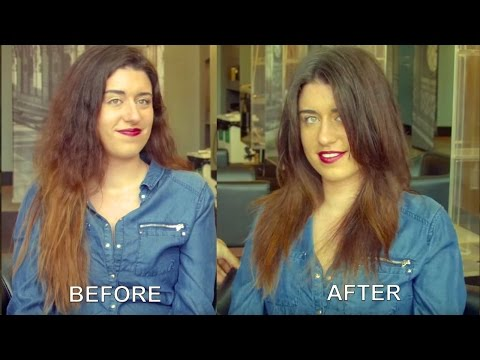 How to Create Short Functional Layers in Long Hair (Beachy waves or straight) - By Adam Ciaccia