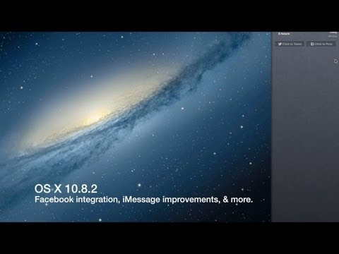 OS X 10.8.2 Facebook integration, and iMessage phone number syncing