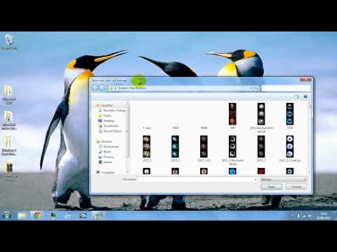 How to change the windows 7 start button.[May work with xp and Vista] HD