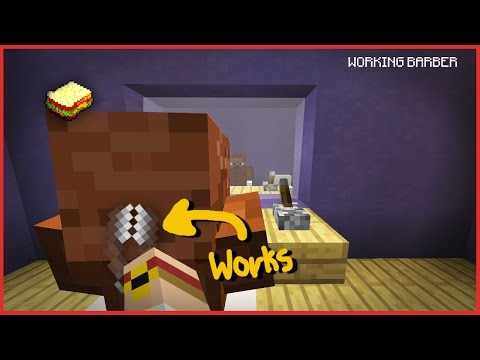 (☞ ͡◕ ͜ʖ ͡◕ )☞ How to make a Working Barber Shop | Minecraft