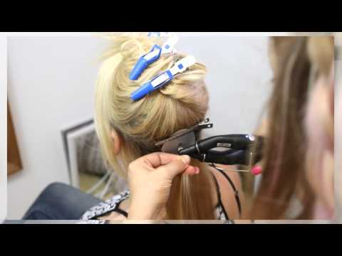 How to remove keratin bond extensions plus new hair application, before & after