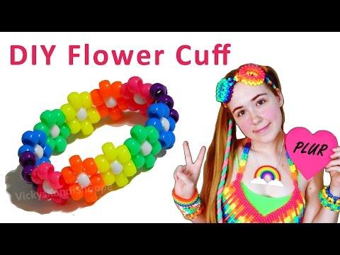 Kandi Tutorial Flower Cuff