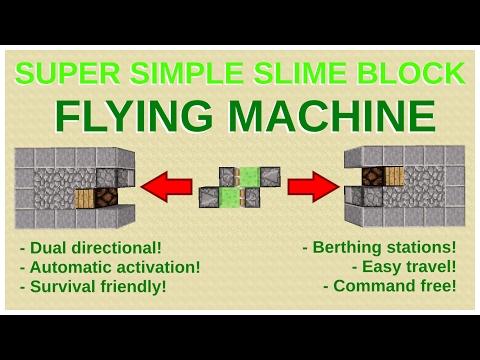 Super-simple Flying Machine: Only 6 Blocks! - Minecraft 1.11