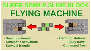 how to make a flying machine in minecraft
