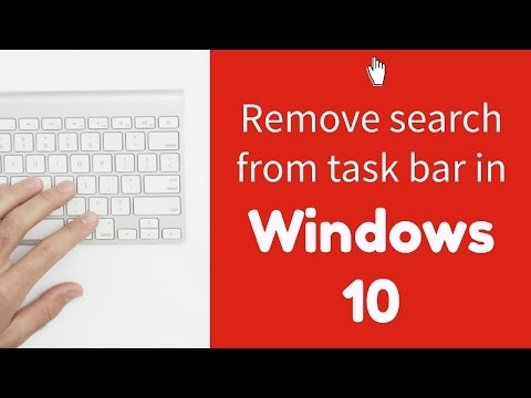 Windows 10 Tip #3: Remove the search bar and task view button from the taskbar