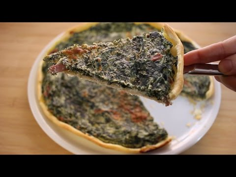 Easy Puff Pastry Spinach Quiche ||Quick and easy Italian recipes