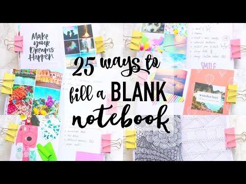 25 Ways to Fill a BLANK Notebook | Paris & Roxy