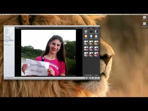 iPhoto- Editing photos tutorial