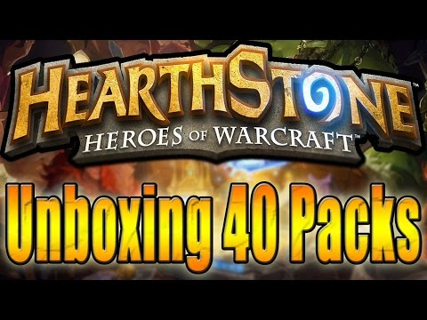 Hearthstone - Unboxing 40 Packs