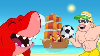 Morphle Beach adventures - Summer Cartoons for Kids with Shark and Construction vehicles