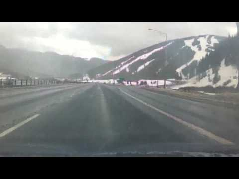 Copper Mountain and the Central Rocky Mountains from I-70 Timelapse